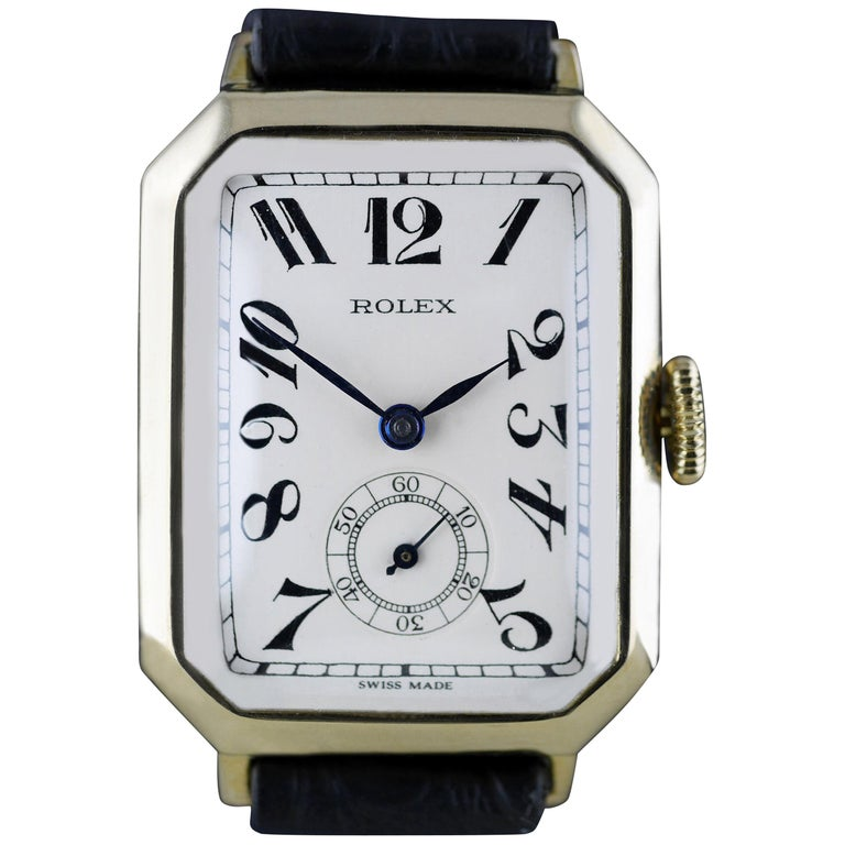 Rolex Art Deco Gold Wristwatch, 1933 For Sale