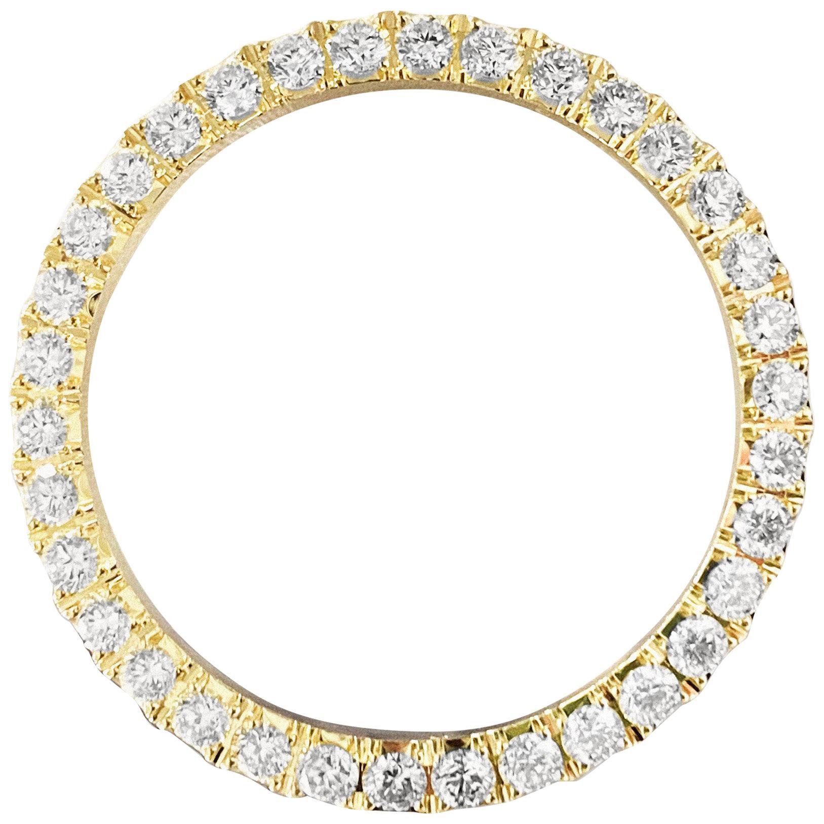 Rolex Bezel 4.50 Carat VVS Diamonds 14 Karat Yellow Gold
