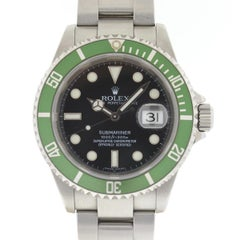 Rolex Black 16610lv Kermit 50th Anniversary Submariner with Box and Papers Watch