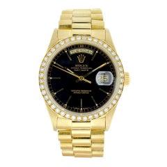 Rolex Black 18038 Single Quick President Watch