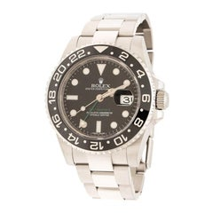 Rolex Black Stainless Steel GMT-Master II 116710LN Men's Wristwatch 40 mm