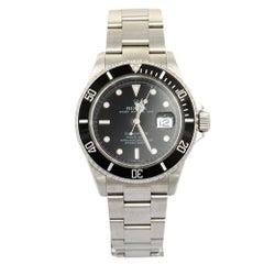 Rolex Black Stainless Steel Submariner 16610 T Automatic Men's Wristwatch 40 mm