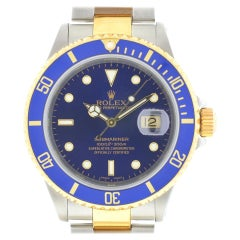 Rolex Blue 16613 Submariner Two-tone Dial Men's Watch