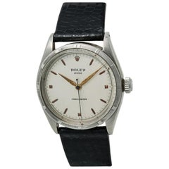 Rolex Brevet 6223 Men's Hand Winding Vintage Watch Silver Dial Stainless