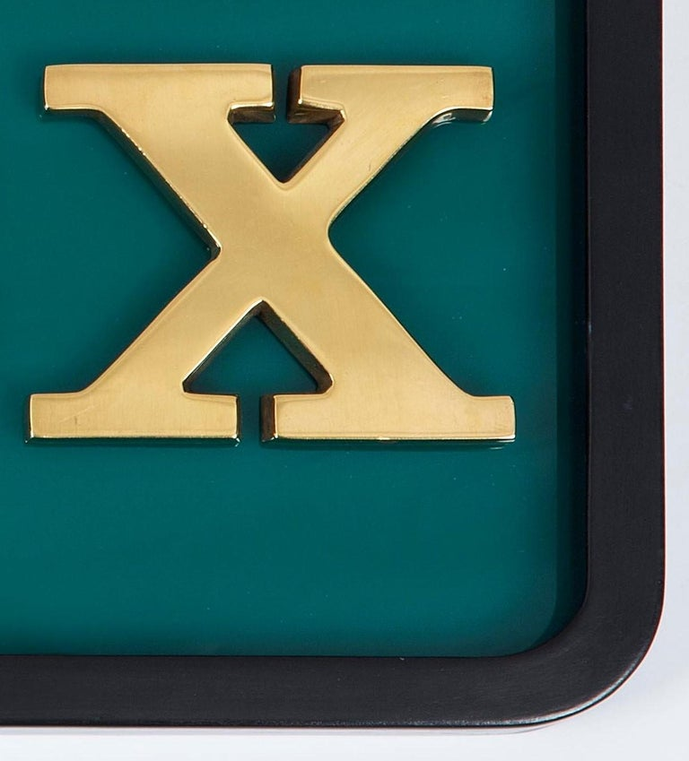 Rolex Bronze Dealership Display Sign, 1960 In Good Condition For Sale In London, GB