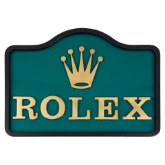Rolex Bronze Dealership Display Sign, 1960