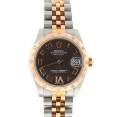 Rolex Brown 178341 Datejust 31 Two-Tone Chocolate Dial Watch