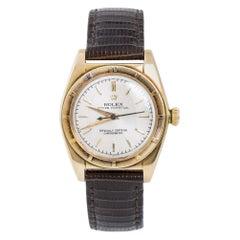 Rolex Bubble Back 5015 Unpolished Men's Automatic Vintage Watch 14 Karat Gold