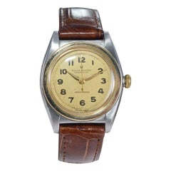 Rolex Bubble Back Steel with Yellow Gold Bezel, Original Dial, circa 1940s