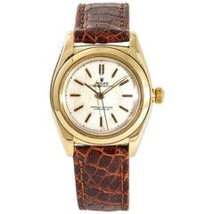 Rolex Bubbleback 3131 Men's Automatic Vintage Watch 18 Karat Yellow Gold