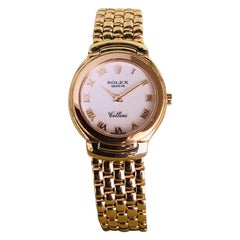 Rolex 'Cellini' 18 Karat Gold Mother of Pearl Watch 66.5 Grams