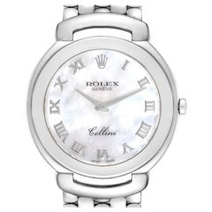 Rolex Cellini 18 Karat White Gold Mother of Pearl Dial Men's Watch 6623