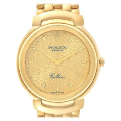 Rolex Cellini 18 Karat Yellow Gold Jubilee Anniversary Dial Men's Watch 6623