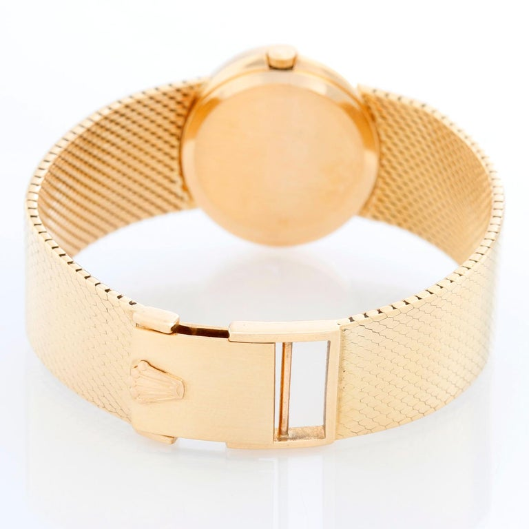Rolex Cellini 18 Karat Yellow Gold Ladies Dress Watch In Excellent Condition For Sale In Dallas, TX