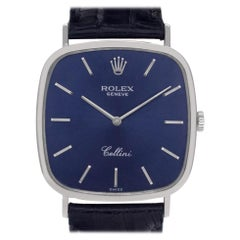Rolex Cellini 4114, Blue Dial, Certified and Warranty