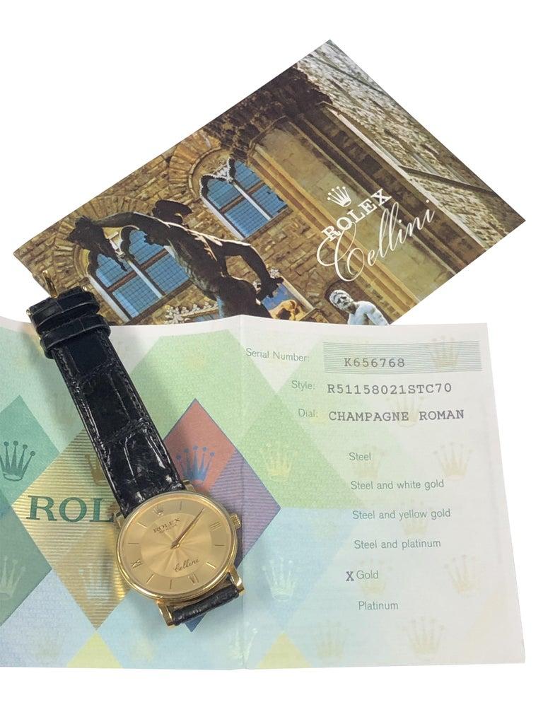 Rolex Cellini 5115 Yellow Gold Mechanical Wristwatch 3