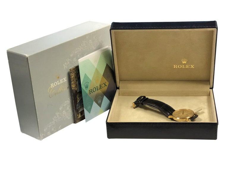 Rolex Cellini 5115 Yellow Gold Mechanical Wristwatch 4