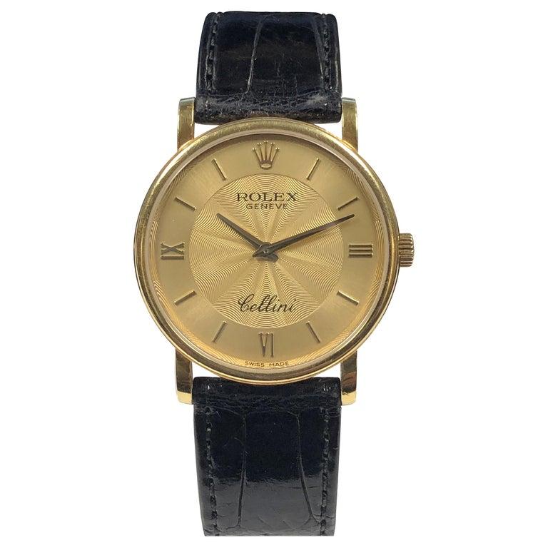 Rolex Cellini 5115 Yellow Gold Mechanical Wristwatch
