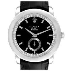 Rolex Cellini Cellinium Platinum Black Dial Men's Watch 5241