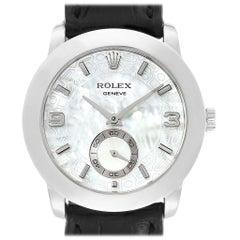 Rolex Cellini Cellinium Platinum Mother of Pearl Men's Watch 5240
