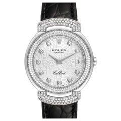 Rolex Cellini Cellissima White Gold Diamond Ladies Watch 6683