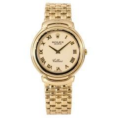 Rolex Cellini Cellissima 6623/8 Mens Watch 18k Gold Porcelain Dial