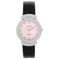 Rolex Cellini Cellissima Ladies 18 Karat White Gold Diamond Watch 6683/9