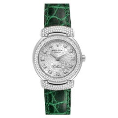 Rolex Cellini Cellissima White Gold Diamond Ladies Watch 6673