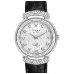 Rolex Cellini Cellissima White Gold Diamond Ladies Watch 6683