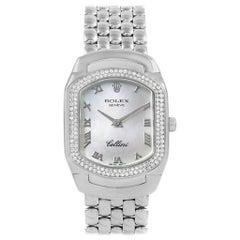Rolex Cellini Cellissima White Gold Diamond Ladies Watch 6691 Box Papers