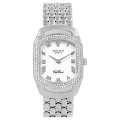 Rolex Cellini Cellissima White Gold Diamond Ladies Watch 6691