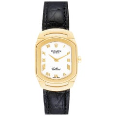 Rolex Cellini Cellissima Yellow Gold White Dial Ladies Watch 6631