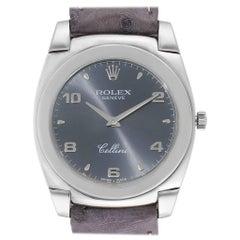 Rolex Cellini Cestello 18 Karat White Gold Slate Dial Men's Watch 5330