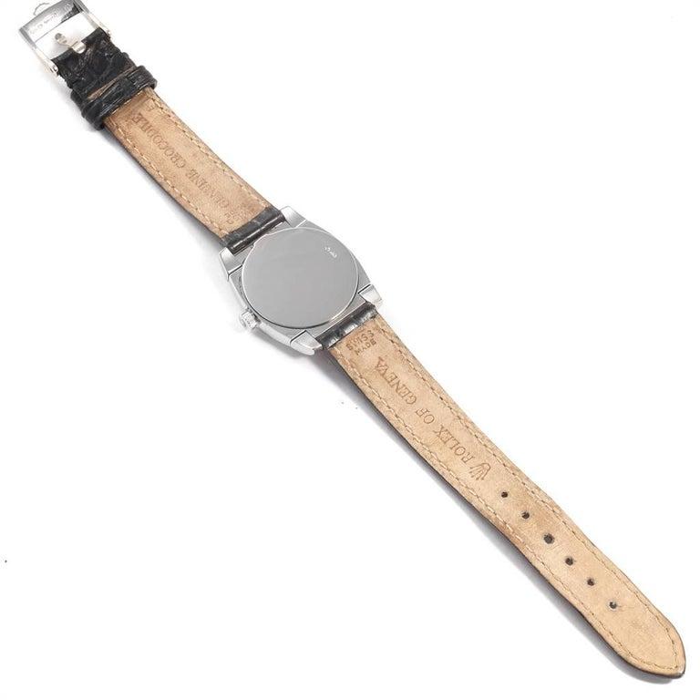 Rolex Cellini Cestello White Gold MOP Diamond Dial Ladies Watch 5310 For Sale 6