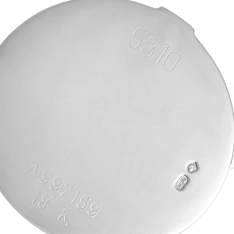 Rolex Cellini Cestello White Gold MOP Diamond Dial Ladies Watch 5310 For Sale 4