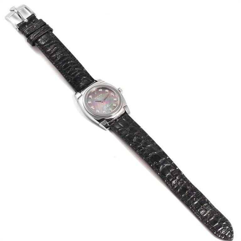 Rolex Cellini Cestello White Gold MOP Diamond Dial Ladies Watch 5310 For Sale 5