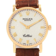 Rolex Cellini Classic 18 Karat Yellow Gold Anniversary Dial Watch 5115