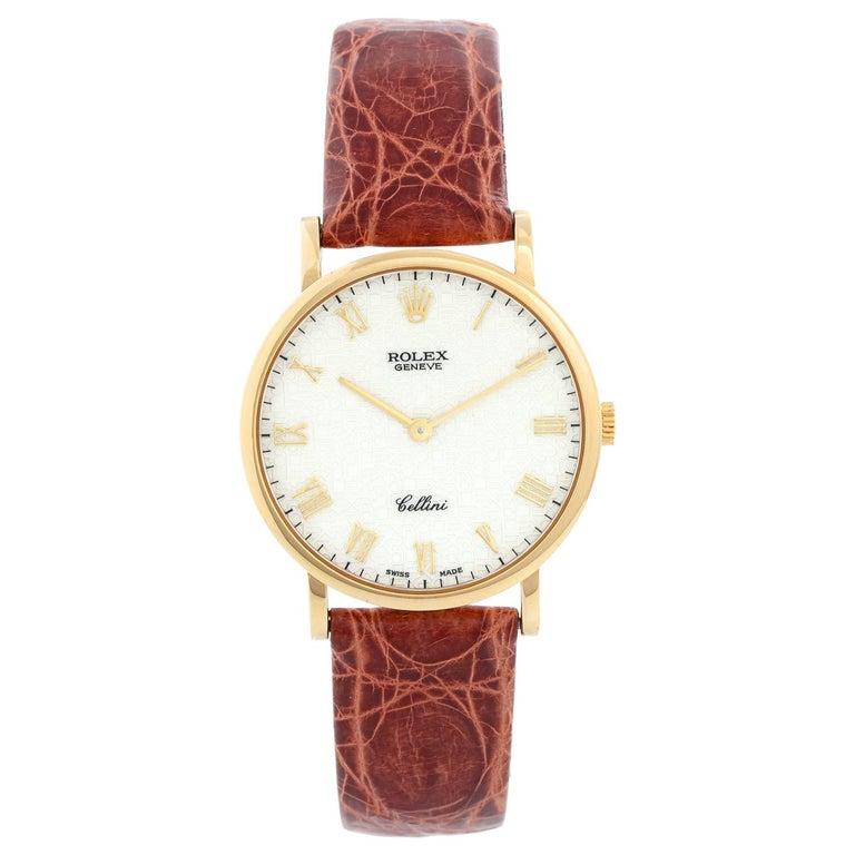 Rolex Cellini Classic 18 Karat Yellow Gold Men's Watch 5112 For Sale