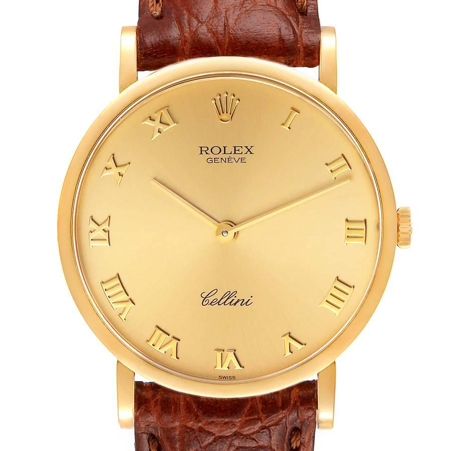 Rolex Cellini Classic 18K Yellow Gold Champagne Dial Mens Watch 5112
