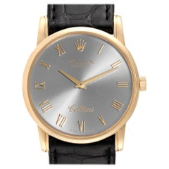 Rolex Cellini Classic Slate Dial 18 Karat Gold Men's Watch 5116