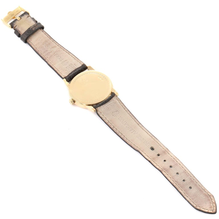 Rolex Cellini Classic Yellow Gold Anniversary Dial Brown Strap Watch 5116 For Sale 6