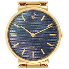 Rolex Cellini Classic Yellow Gold Mother of Pearl Dial Men's Watch 5162