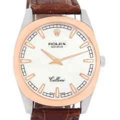 Rolex Cellini Danaos 18 Karat White and Rose Gold Men's Watch 4243