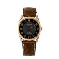 Rolex Cellini Danaos White and Rose Gold Wristwatch with Strap
