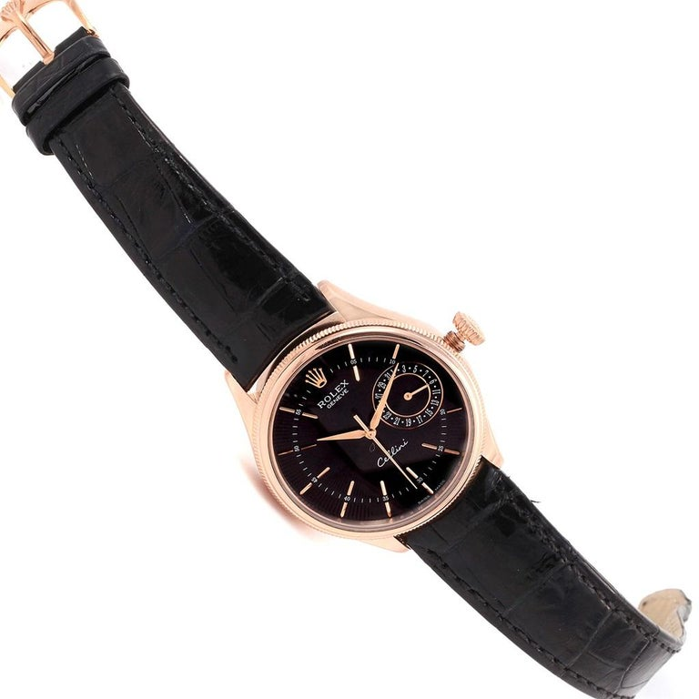 Rolex Cellini Date 18 Karat Everose Gold Automatic Men's Watch 50515 Unworn For Sale 6