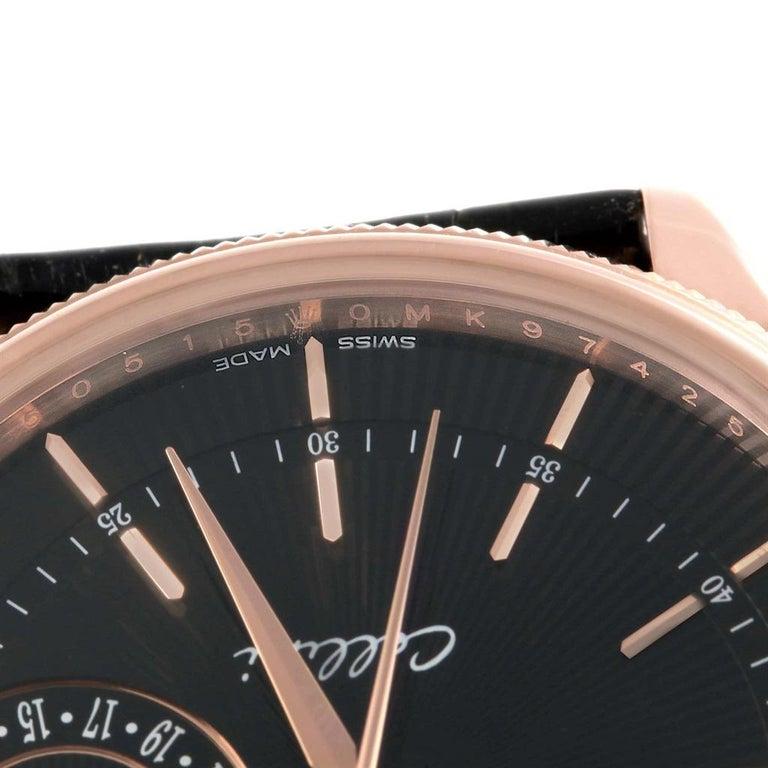 Rolex Cellini Date 18 Karat Everose Gold Automatic Men's Watch 50515 Unworn For Sale 7