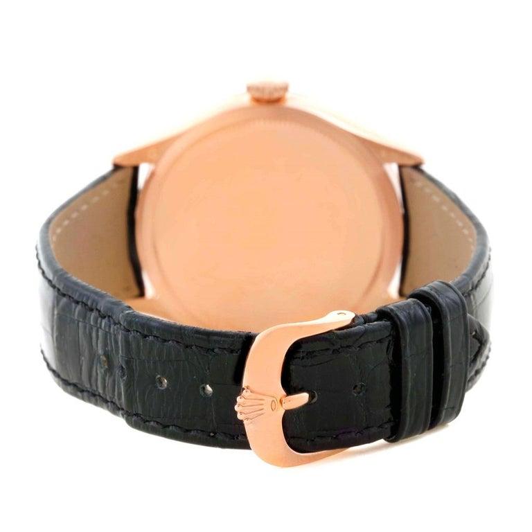 Rolex Cellini Date 18 Karat Everose Gold Automatic Men's Watch 50515 Unworn For Sale 1