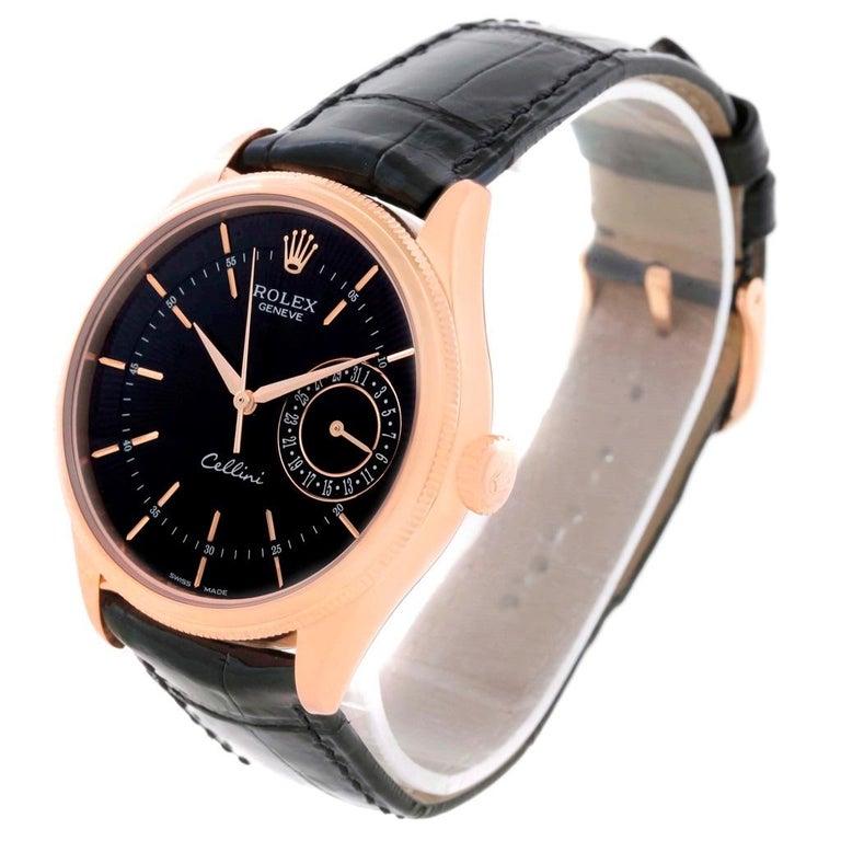 Rolex Cellini Date 18 Karat Everose Gold Automatic Men's Watch 50515 Unworn For Sale 2