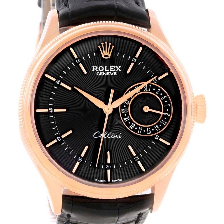 Rolex Cellini Date 18 Karat Everose Gold Automatic Men's Watch 50515 Unworn For Sale 4