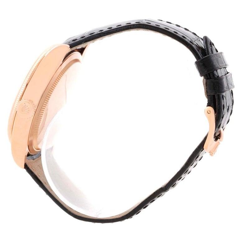 Rolex Cellini Date 18 Karat Everose Gold Automatic Men's Watch 50515 Unworn For Sale 5